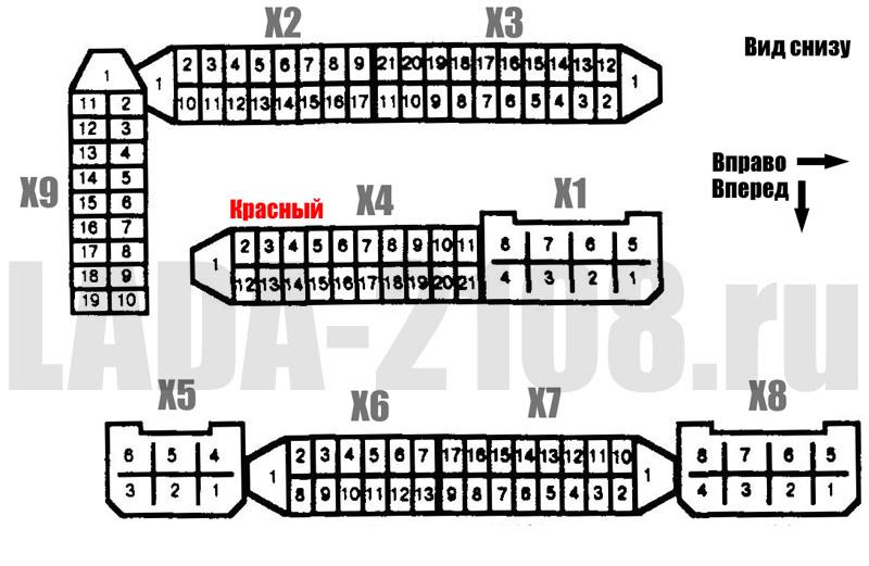 монтажного блока ВАЗ-2108