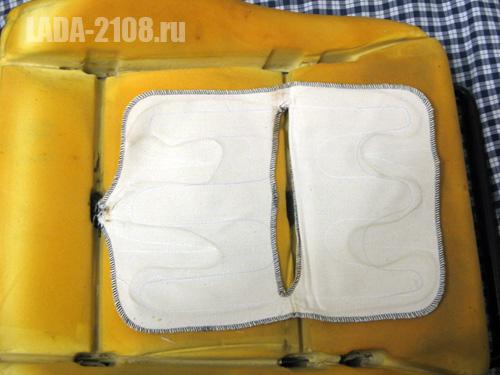 Расположение обогревательного элемента на сиденье LADA Samara.